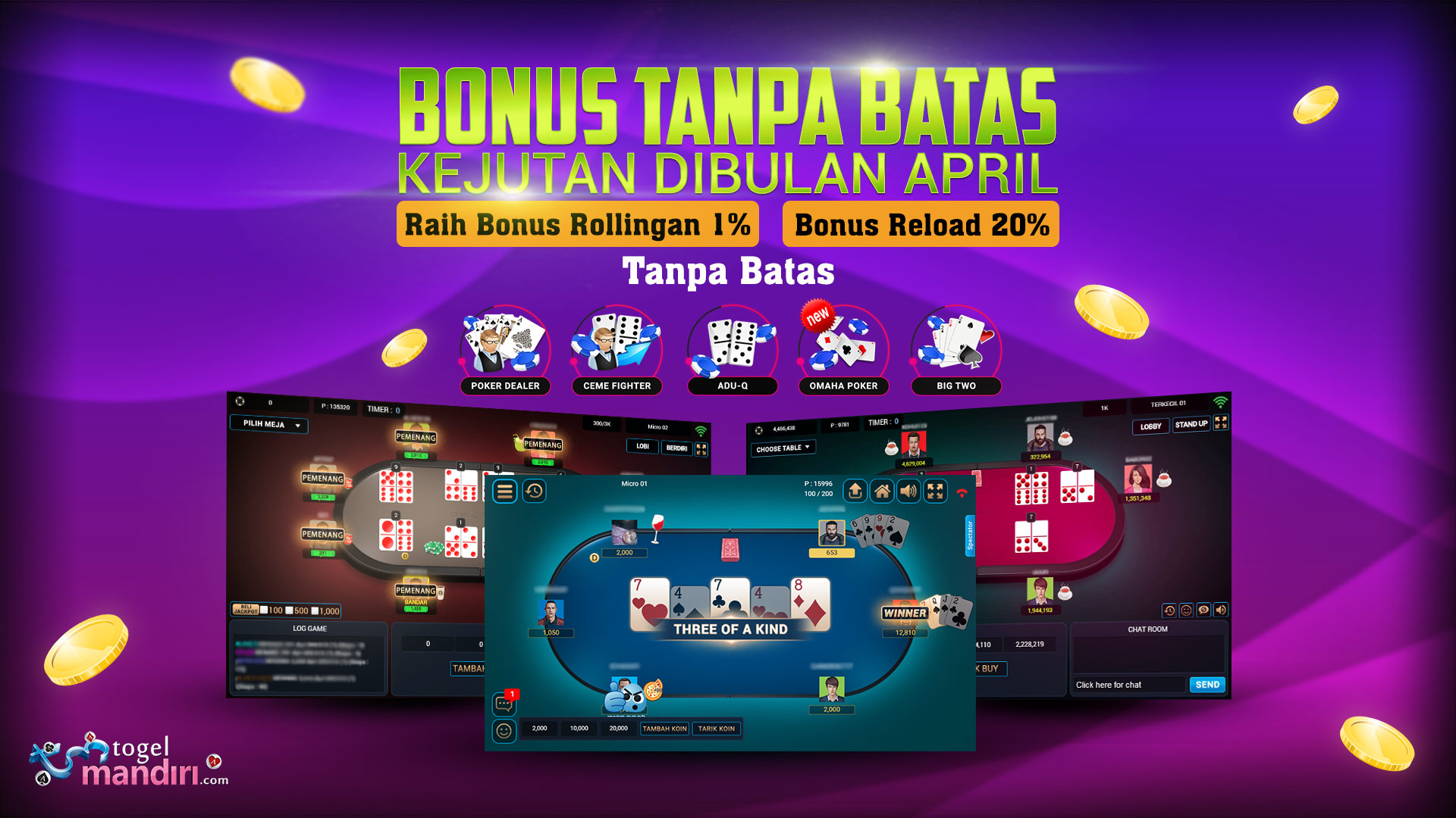 BONUS TANPA BATAS | KEJUTAN DIBULAN APRIL